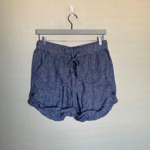 Joe Fresh linen blend chambray shorts size medium